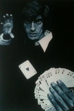 "copperfield  24""x36 oil commission  #davidcopperfield #copperfield #magictrick #cardtrick #seattleartist #oilpainting"