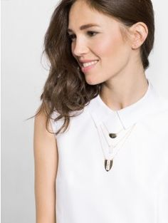 Fashion Necklaces: Statement, Chains & More : Clear, Pink and Gray | BaubleBar