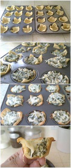 Spinach Artichoke Bites | Bake a Bite