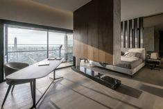 Apartmán FHM Bachelor okouzluje úchvatným výhledem na Bangkok   Insidecor - Design jako životní styl Bedroom Color Schemes, Bedroom Colors, Home Bedroom, Diy Bedroom Decor, Bedroom Ideas, Bedroom Designs, Girls Bedroom, Master Bedrooms, Loft