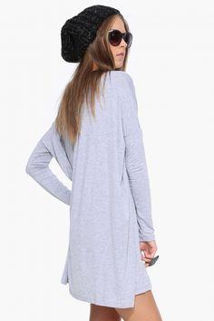 The Necessary Basic Dress in Heather grey | Necessary Clothing