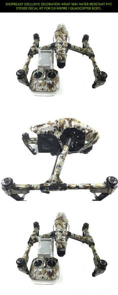 Shopready Exclusive Decoration Wrap Skin Water-resistant PVC Sticker Decal Kit for DJI Inspire 1 Quadcopter Body and Remote Controller - Camouflage #tech #skin #shopping #wrap #gadgets #products #fpv #plans #dji #camera #technology #inspire #1 #kit #parts #racing #drone