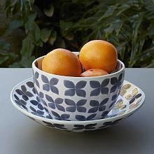 Tile Print Serving Bowls