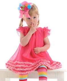 Take a look at this Pink Meringue Dress - Infant, Toddler & Girls by Servane Barrau Designs on #zulily today!