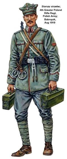 1919 Starszy strzelec Regimiento de rifles Gran Polonia n4 Russo-Polish War 1919 - 1921. Pin by Paolo Marzioli