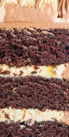 Chocolate Banana Peanut Butter Cake #chocolatebananacake #cake #peanutbuttercake Chocolate Dreams, Chocolate Heaven, Best Chocolate, Chocolate Recipes, Best Dessert Recipes, Fun Desserts, Delicious Recipes, Sweet Recipes, Cake Recipes