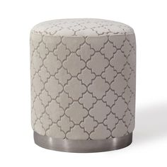Tov Furniture Opal Ottoman Cream Morrocan