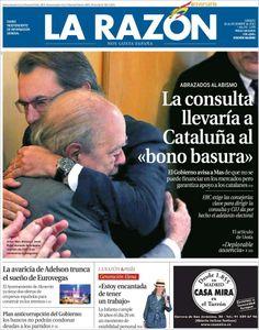 """""""La consulta llevaría a Cataluña al bono basura"""""""