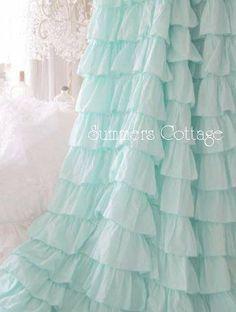 Aqua shower curtain. Can't wait to get this :)) Love love love <3