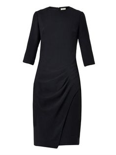 Pleated crepe dress | L'Agence | MATCHESFASHION.COM