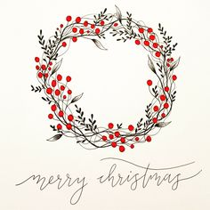 Well this weekend has been filled with all things festive... we picked a tree, decorations are up, the tunes have been on and we made mince pies today! I'm finishing the weekend preparing some Christmas cards (and not looking forward to going back into the office tomorrow)! #sundayfear #sundayblues #christmaswreath #wreath #christmas #feelingfestive #festive #handlettering #lettering #moderncalligraphy #calligraphy #cards #greetingcards #illustration #december #decorations #tistheseason… Watercolor Christmas Cards, Diy Christmas Cards, Xmas Cards, Christmas Art, Winter Christmas, Diy Cards, Christmas Wreaths, Christmas Decorations, Tree Decorations