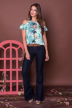 #debrummodas #coleção #calça #flare #blusa #openshoulder #floral #estampada #modafeminina #moda #fashion #style #estilo