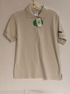 Girl Scout Senior Polo Shirt Short Sleeve Beige/Khaki Size Medium Top New! #GirlScouts #Shirt