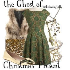 """The Ghost of Christmas Present"" by pickedadaytofly on Polyvore"