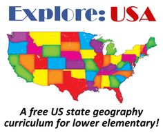 Explore the United States of America with this free US state geography curriculum for lower elementary!