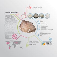 Colemanite is named after William T. Coleman a mine owner who lived in San Francisco.