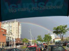No rain, no rainbow, at Rotterdam