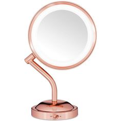 Conair Reflection Rose Gold Light Mirror (534.720 IDR) ❤ liked on Polyvore featuring home, home decor, mirrors, rose mirror, conair, conair mirror, rose gold mirror and rose home decor