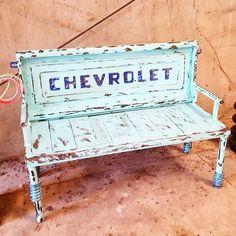 WEBSTA @ recycledsalvagedesign - Old Chevrolet truck tailgate bench by Raymond Guest artist Recycled Salvage Design www.recycledsalvage.com #garden #artsy #instaart #beautiful #instagood #bestoftheday #instadaily #photooftheday #instaartist #gardenart #gardenartist #raymondguest #recycledsalvagedesign #outsiderart #outdoorart #gardenideas #gardenartideas #gardenartideas #yard # #yardart #gardenartideas #recycledsalvage #raymondguestartist #scrapmetalart ##scrapmetalartist #metalart…