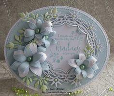 Kindness. Poppystamps / Amy Designs & Sue Wilson cutting dies.