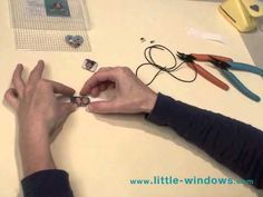Little Windows Resin: Double-Sided Basics create, drill, make connectors, use leather to make bracelet.