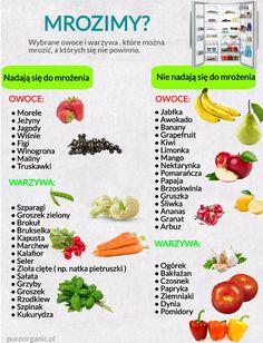 Mrożenie warzyw i owoców.