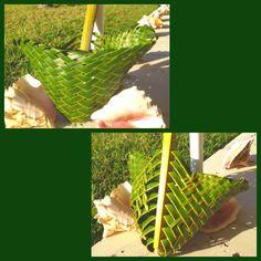 DIY, coconut leaf basket, beach craft