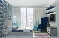 Heavenly high-rise bedroom in mumbai - 150 sq ft  bedroom @ rs. 4200 per sq ft. starting  with bare shell.......click for more