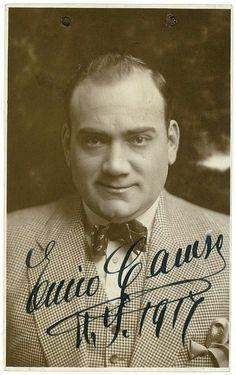 Enrico Caruso (25.2.1873 Neapel - 2.8.1921 Neapel) - ital. Tenor - seinen Durchbruch hatte er 1903 an der NY Met im Rigoletto