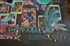 Tribal Fusion Headpiece Blue Skies Bellydance by theverdantmuse