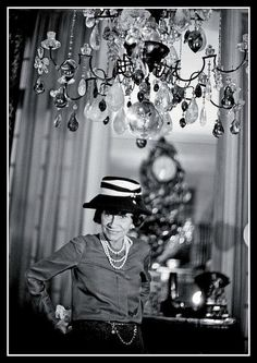 Coco Chanel.  Rue Cambon, 1960. Photo by Shahrokh Hatami.
