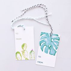 Palm & Cactus Gift Tags on @hellogreatly