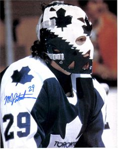 Mike Palmateer - Toronto Maple Leafs Hockey Shot, Hockey Helmet, Ice Hockey Teams, Hockey Goalie, Hockey Stuff, Nhl, Maple Leafs Hockey, Hockey Rules, Goalie Mask