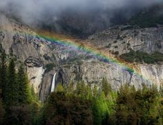 Lower Yosemite Falls after a storm in November Yosemite National Park, National Parks, Yosemite Falls, Amazing Pics, Places Ive Been, Grand Canyon, Mount Rushmore, Rainbow, California