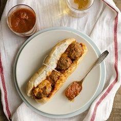 Handmade Meatball Sandwich.