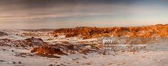 Foto de stock : Flaming Cliffs in winter, Gobi Desert, Mongolia