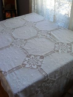 Image result for vintage linen and lace tablecloths