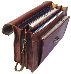 The Venezia Italian Leather Briefcase Bag is styled to afford the look of power in business world . It's crafted from high-quality Italian leather. Best Leather Briefcase, Vintage Leather Messenger Bag, Briefcase For Men, Leather Bags Handmade, Leather Craft, Office Bags For Men, Saddleback Leather, Leather Men, Tooled Leather