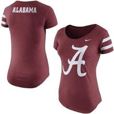 NCAA Women's Nike Crimson Alabama Crimson Tide Enzyme Wash Team DNA T-Shirt