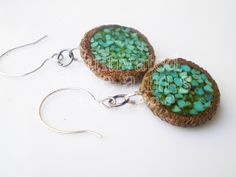 I've never seen something quite like this before! Acorns with Genuine Turquoise Inlay Earrings, starting at $10.