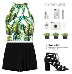 """""""Glide"""" by bb123456789 ❤ liked on Polyvore featuring River Island, Sole Society, Lux-Art Silks, adidas, J.Crew, Lord & Berry, Case-Mate and Colbert MD"""