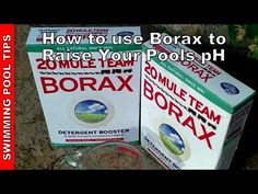 How to use Borax to Raise the pH in your Pool - How much Borax to Add Cloudy Pool Water, Swimming Pool Water, Swimming Pools Backyard, Backyard Play, Cleaning Above Ground Pool, Raised Pools, Pool Organization, Solar Pool Heater, Swimming Pool Maintenance