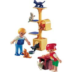 "Playmobil Animal Clinic Playset: Cat Scratch Tree - Playmobil - Toys ""R"" Us"