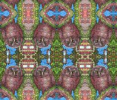 OWL_copy fabric by cherb on Spoonflower - custom fabric