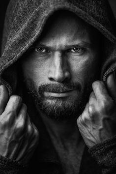 Portrait by Alexander Motylev Dark Portrait, Portrait Pictures, Art Photography Portrait, Photography Poses For Men, Shooting Studio, Men Photoshoot, Shooting Photo, Hommes Sexy, Black And White Portraits