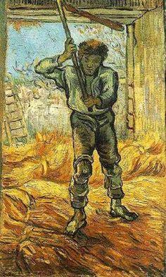 Vincent van Gogh - Le Batteur de Blé 1889
