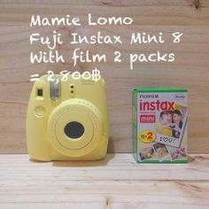Mini 8 yellow pastel (polaroid,fuji instax) at mamie lomo shop , Chiangmai , Thailand.