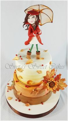 Autumn Birthday Cake