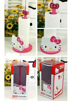 Hello Kitty Wooden Paper Towel Holder