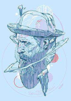 illustrations by Rustam QBic Salemgaraev, via Behance